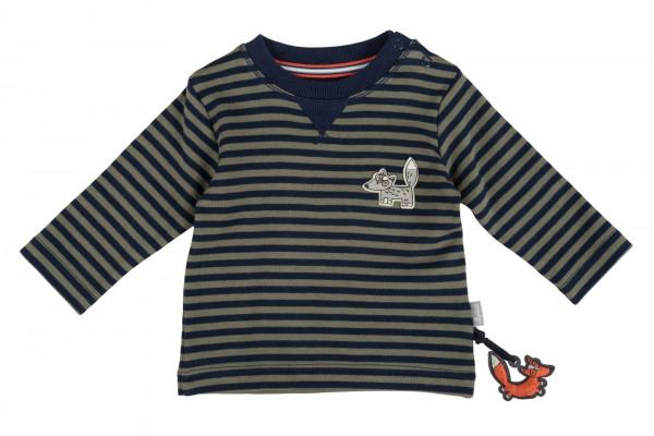 Fröhliches Streifenshirt mit Fuchs-Motiv