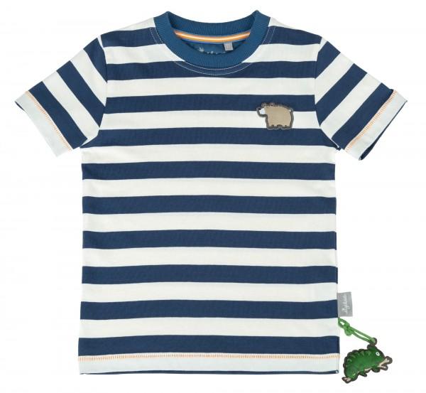 Jungen T-Shirt Blau-weiß gestreift