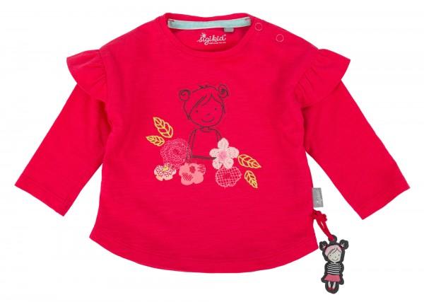 Mädchenshirt in Pink mit Rüschen