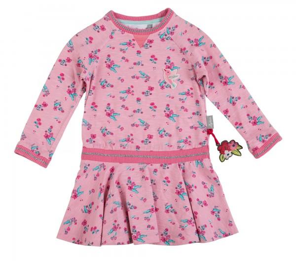 Tailliertes Mädchenkleid im Allover Print