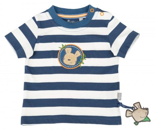 Blau-weiß gestreiftes T-Shirt für Jungen