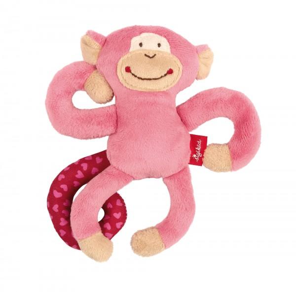 Babyschalen Anhänger Affe in Pink