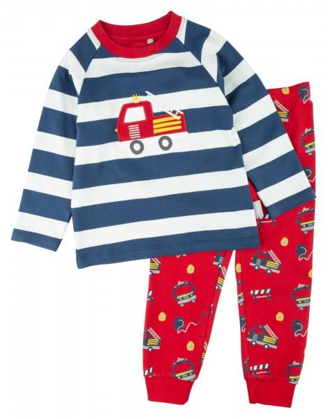 Schlafanzug mit Feuerwehr Motiv