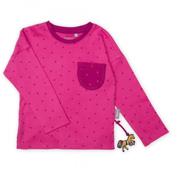 Mädchen Langarmshirt in Pink