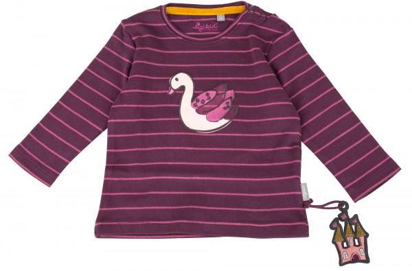 Baby Streifenshirt mit Schwan Motiv