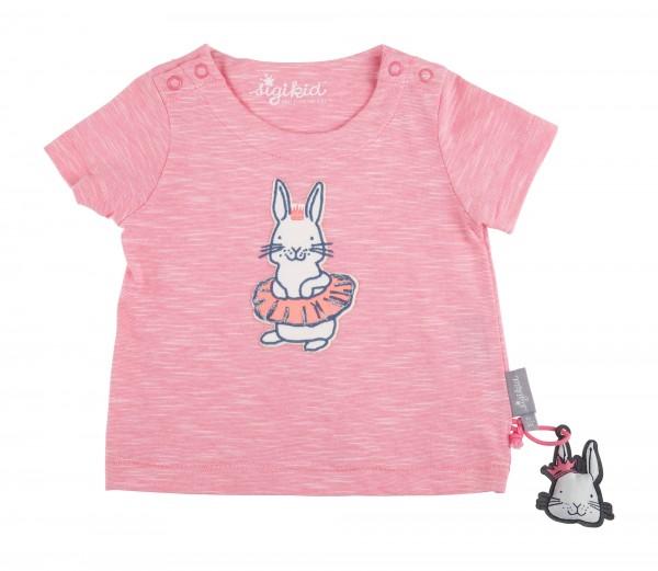 SIGIKID Rosa meliertes Babyshirt Häschen