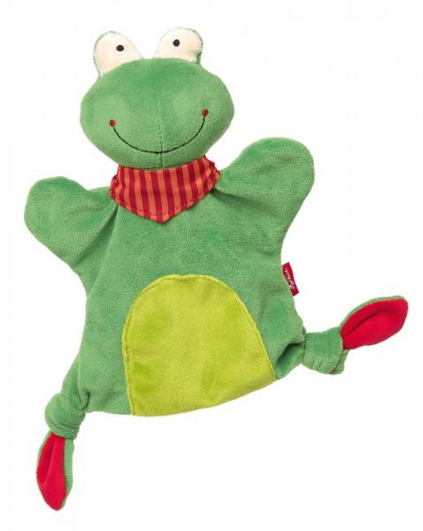 Handpuppen Schnuffeltuch Frosch