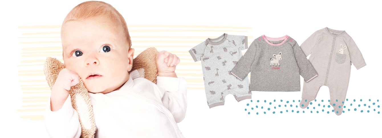 Newborn clothing from 0 to 6 months