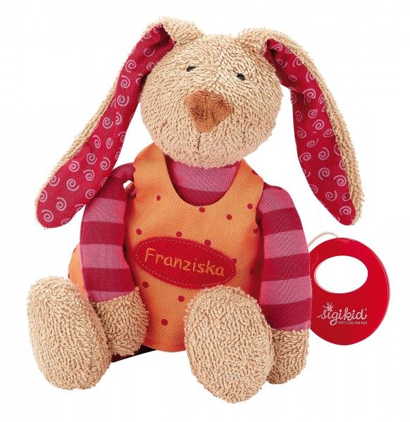 Spieluhr Hase pink, personalisiert