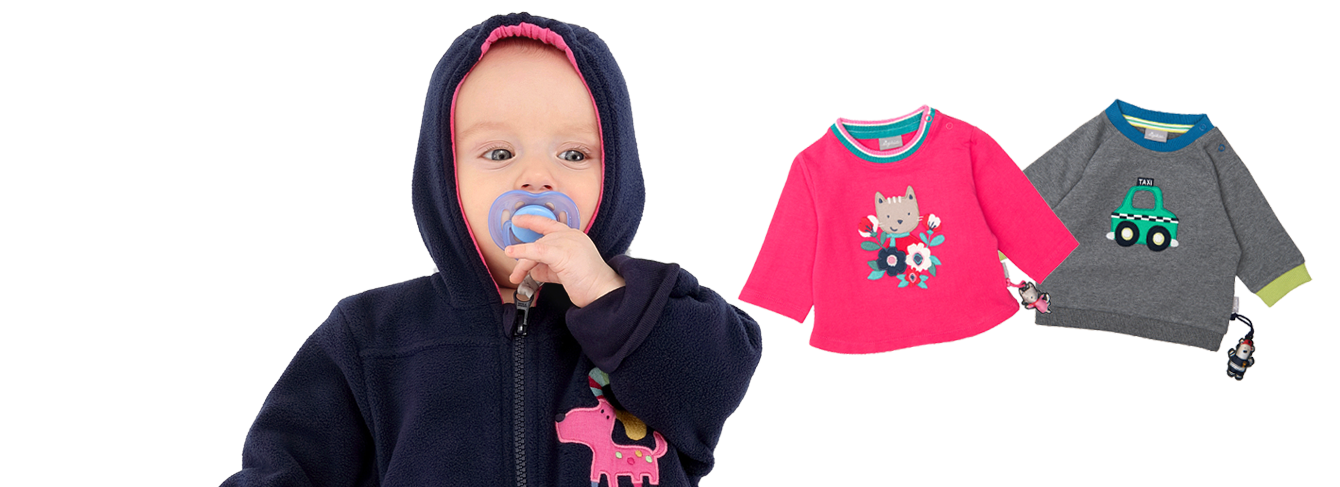 Clothing for babies aged 0 to 3 years