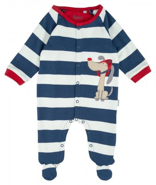 Baby Schlafoverall mit Feuerwehr-Bello