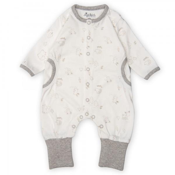 Neutraler Babyoverall mit süßem Druck