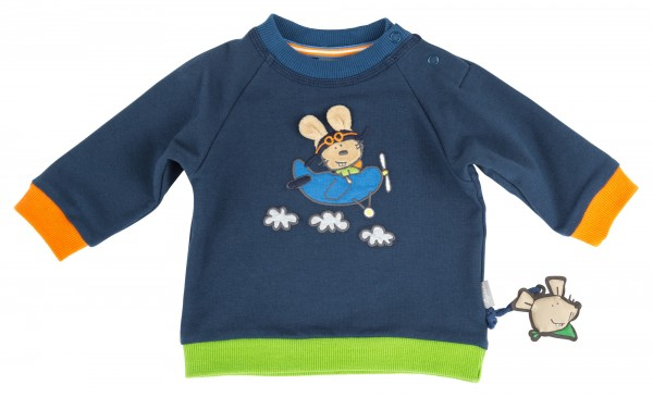 Baby Sweatshirt mit Maus Motiv für Jungen