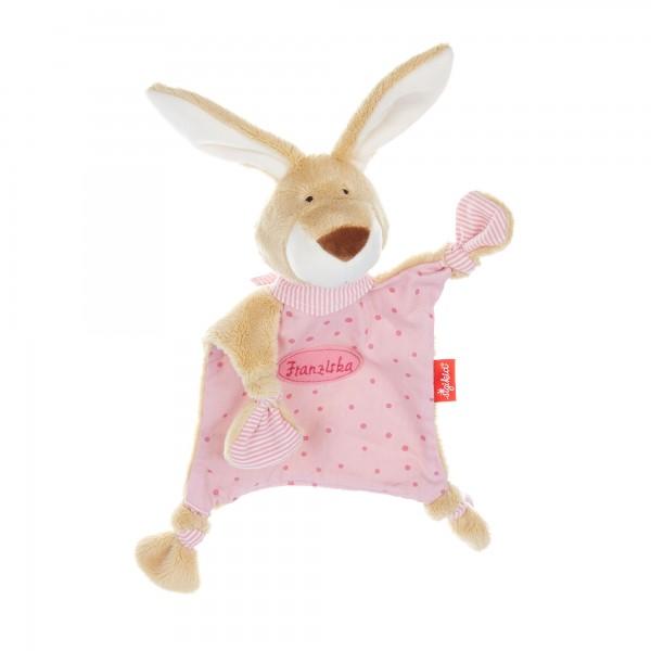 Namensschnuffeltuch Hase rosa