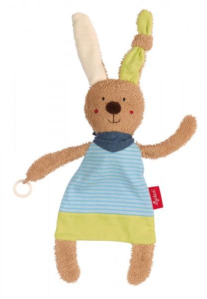 Schnuller-Schnuffeltuch Hase in blau