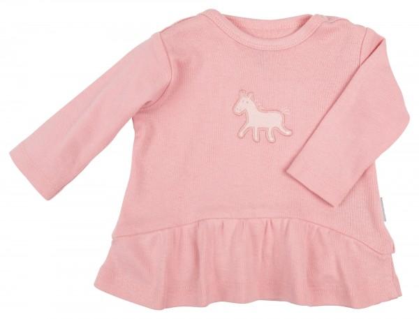 Rosa Babyshirt mit Volant