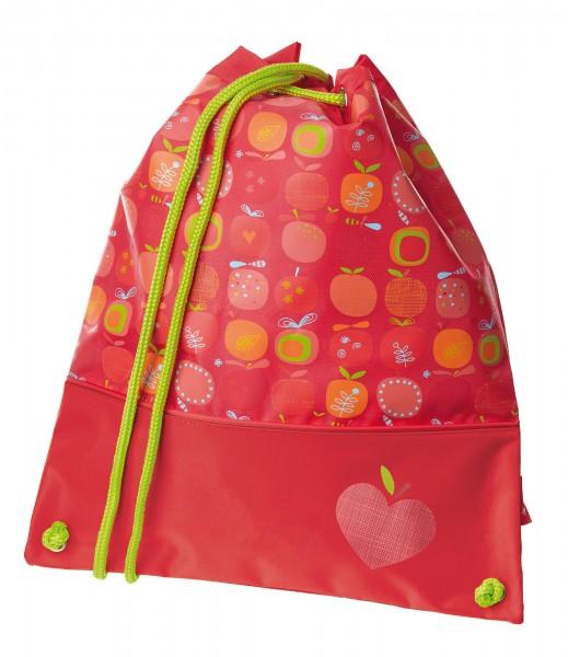 Turnbeutel rot für Mädchen Serie Apfelherz