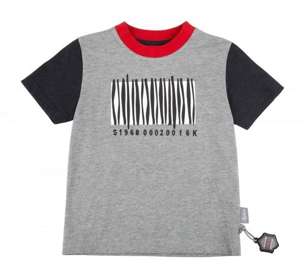 SIGIKID Graues Jungen T-Shirt Zebrastreifen