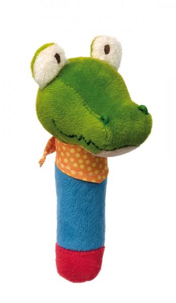 Greifling mit Quietsche Krokodil PlayQ