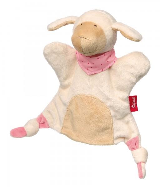 Handpuppen Schnuffeltuch Schaf