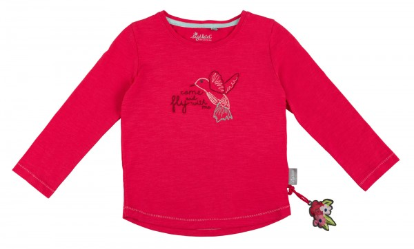 Langarmshirt für Mädchen in Pink