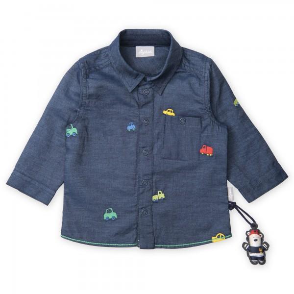 Babyhemd mit Autos bestickt