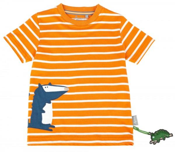 Geringeltes T-Shirt mit Motiv