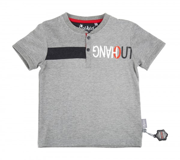 SIGIKID Lässiges Henley Shirt in grau für Jungs