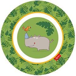 Kinder Teller mit Nashorn - Auslaufmodell
