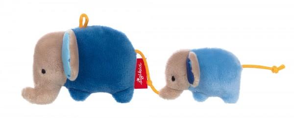 Rassel Elefanten blau