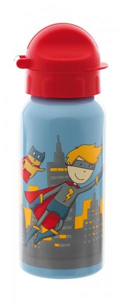 Trinkflasche Superheld Pille Power