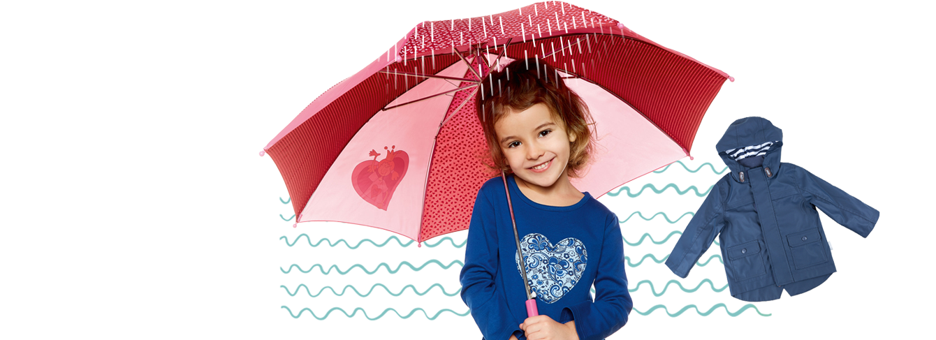 Colourful kids rainwear