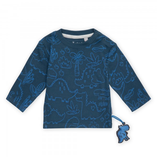 Baby Langarmshirt mit Dino Print