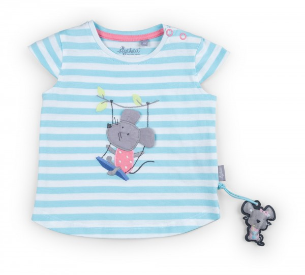 Sommerliches T-Shirt gestreift mit Maus Motiv