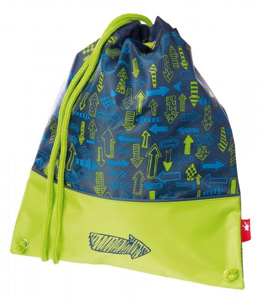 Turnbeutel für Jungen blau-grün, Serie Arrows