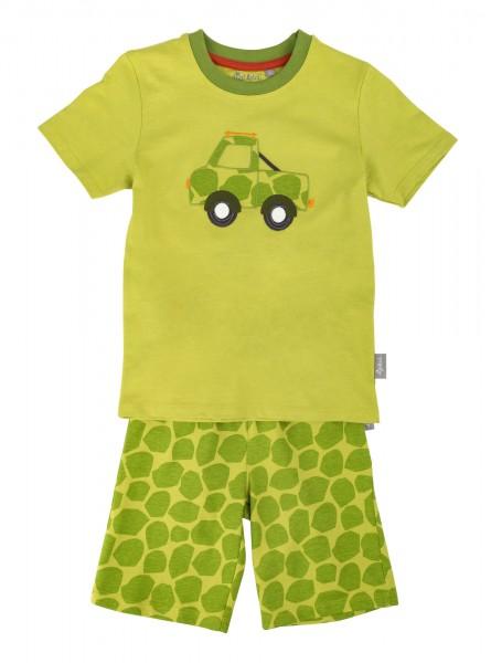 Grüner Jungen Schlafanzug mit Laster Motiv