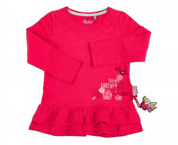 Pinkes Longshirt mit Volant