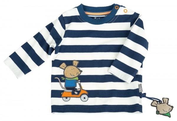 Gestreiftes Babyshirt mit Roller Motiv