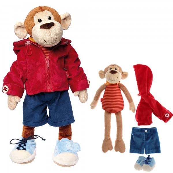 Lern to dress plush monkey