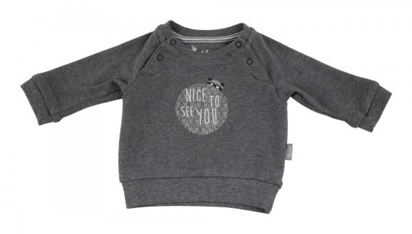 Baby Sweatshirt in dunkel grau