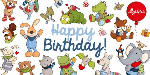 Gift voucher Birthday, various layouts