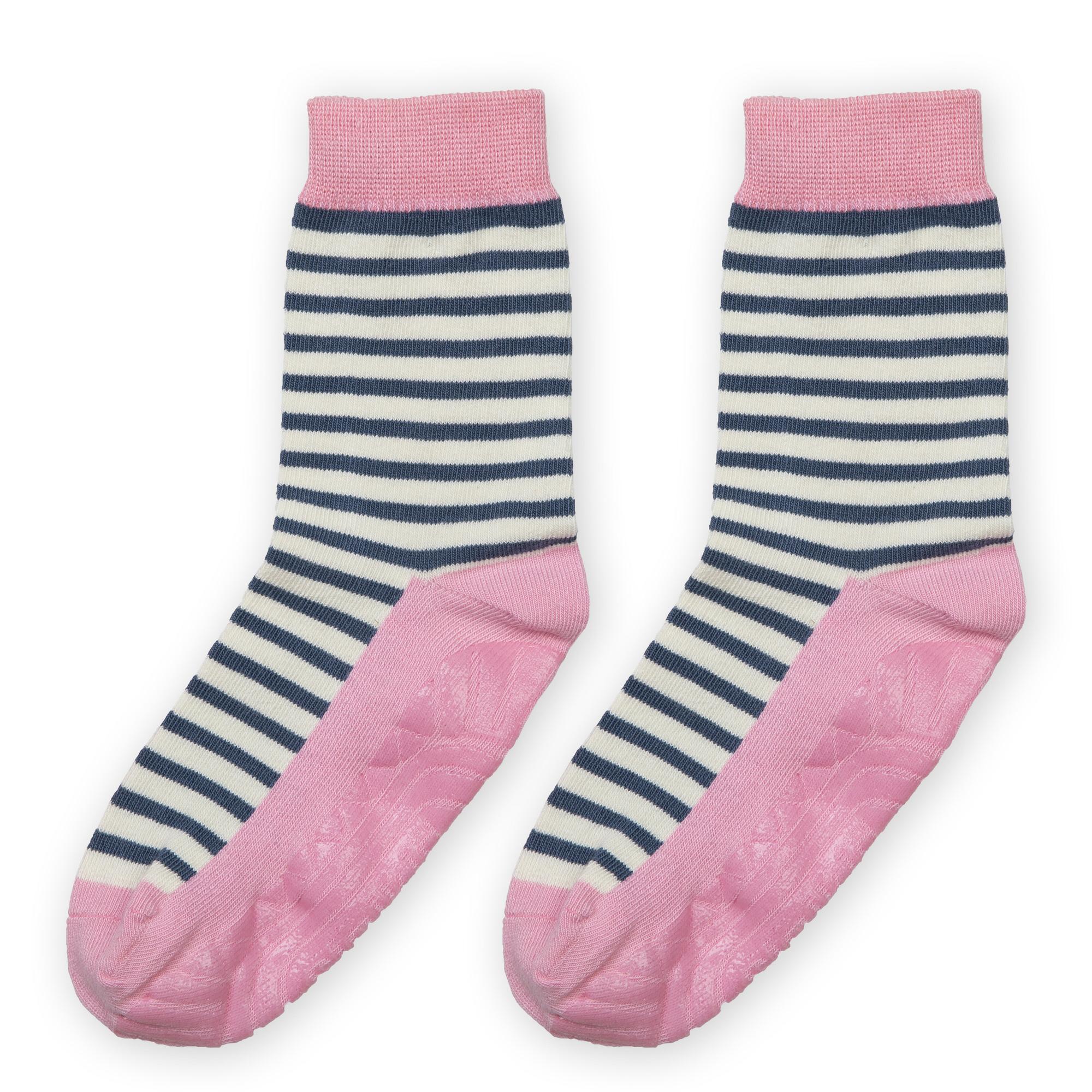 cea9ea2cb0b6c0 Geringelte Mädchen Anti Rutsch Socken