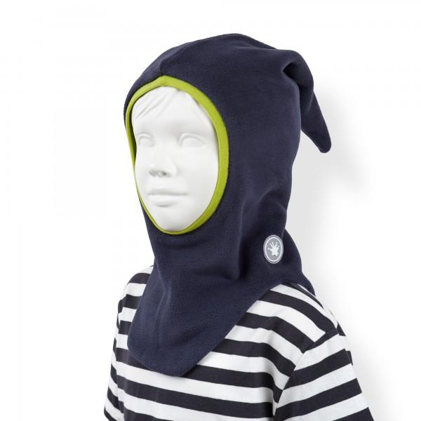 Blaue Baby Fleece-Schlupfmütze