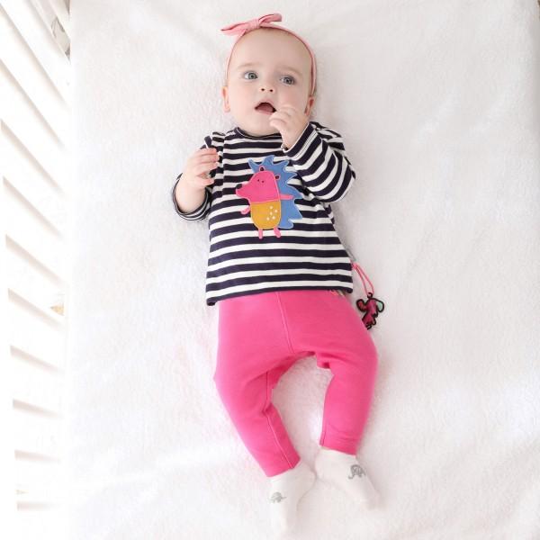Baby Streifenshirt Igel