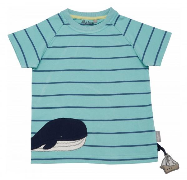 Hellblaues T-Shirt mit Wal Motiv