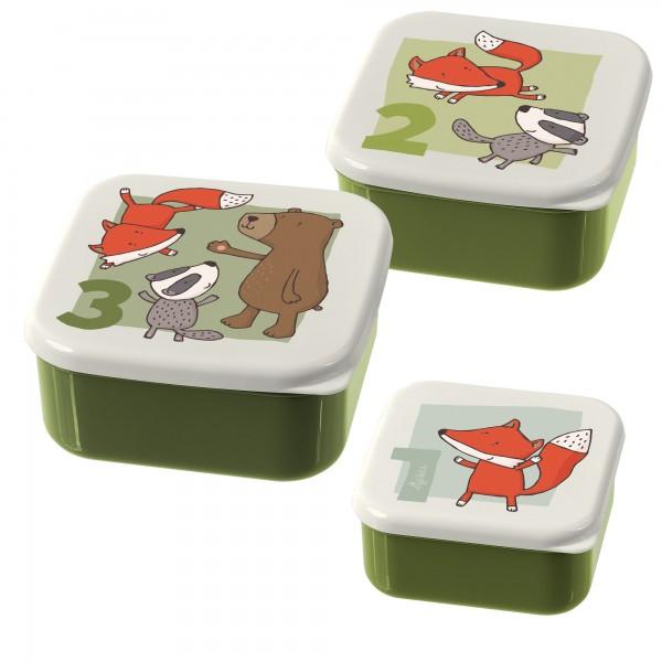 Snackboxen Freunde 3er-Set