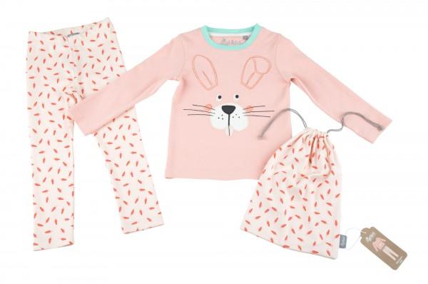 Mädchen Schlafanzug mit Häschen