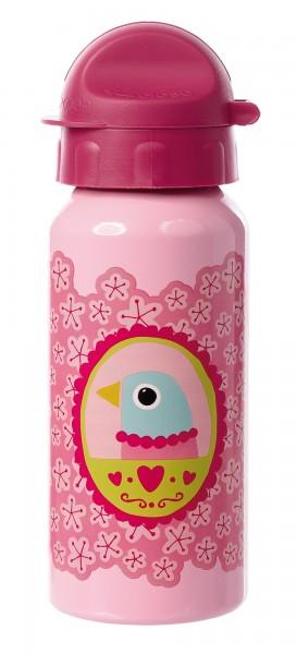 Mädchen Trinkflasche rosa mit Vogel Finky Pinky