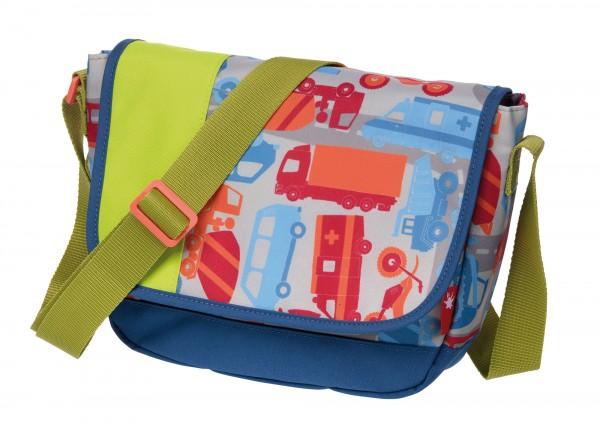 Kindergartentasche mit Auto und Fahrzeugen