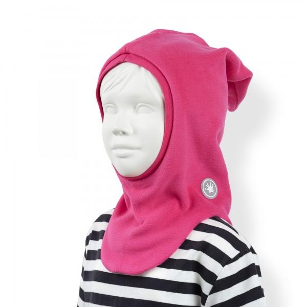 Pinke Baby Fleece-Schlupfmütze